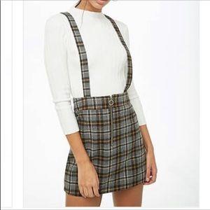 NWT Forever 21 Plaid Skirt Overall / Jumper